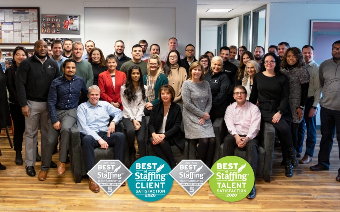 Sterling Wins ClearlyRated's 2020 Best of Staffing Client and Talent Diamond Awards for Service Excellence