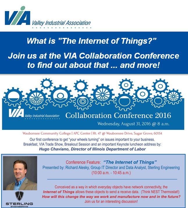 Sterling's Rich Alesky Speaking on IoT at 1st Annual VIA Conference